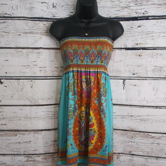 Flying Tomato Dresses & Skirts - Flying Tomato/ Strapless Sun Dress/ Medium